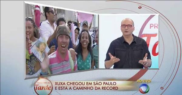 Britto Jr. e Ticiane Pinheiro se emocionam com chegada de Xuxa na ...