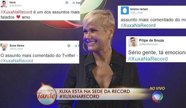 Chegada de Xuxa à Record vira assunto mais comentado do mundo nas redes sociais