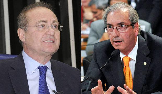 Presidentes do Senado e da Câmara, Renan e Cunha estão em lista com nomes de 5 partidos