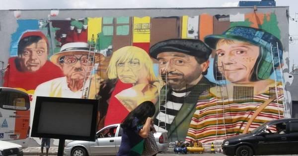 Grafiteiro faz desenhos realistas da turma da Chaves em São Paulo ...