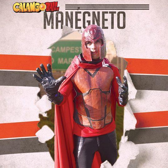 Na página de Facebook da produção, foram postadas imagens de todos personagens do filme. Magneto virou Manégneto