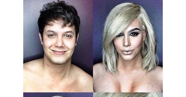 Homem se transforma em mulheres famosas usando maquiagem ...