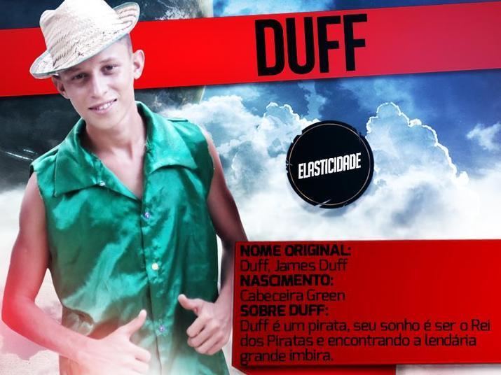 Duff é pirata e é inspirado em Jack Sparrow