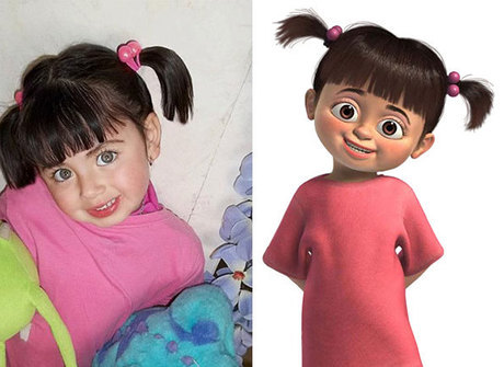Veja pessoas iguais a personagens dos desenhos animados infantis