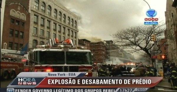 Explosão causa desabamento de prédio em Nova York - Notícias ...