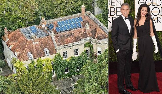 George Clooney e Amal Alamuddin fazem reforma em mansão de R$ 48 milhões
