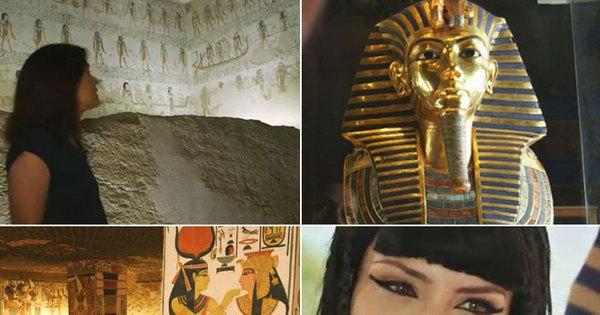 Na série Enigmas do Egito, Adriana Araújo tem acesso à tumba ...