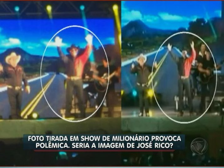 Compare as duas imagens+Gian e Giulliano cantam 'Estrada da Vida' em homenagem ao José Rico