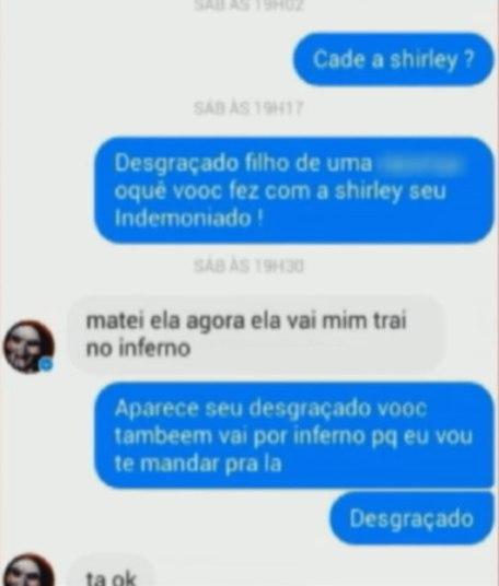 Em conversa com uma amiga de Shirley, Silva confessa o assassinato e volta a falar em traição