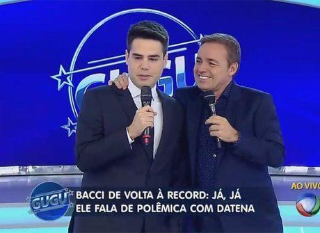 De volta à Rede Record, Luiz Bacci comenta várias polêmicas no palco