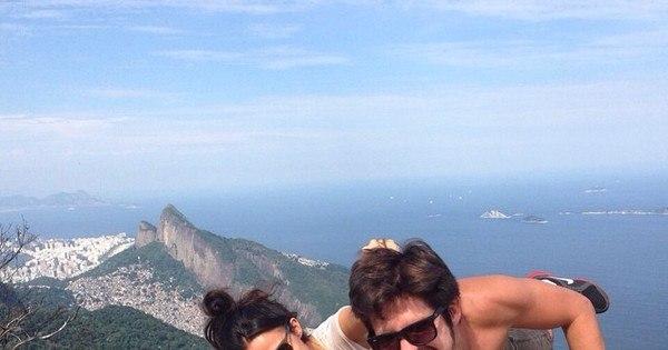 Ai que medo! Nanda Costa escala pedra no Rio de Janeiro ...