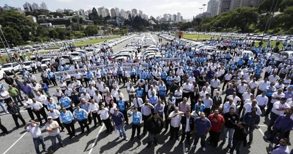 Taxistas protestam em 6 capitais contra serviço de transporte ...