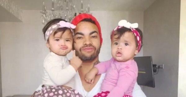 Dentinho comemora primeiro aninho das filhas gêmeas - Fotos - R7 ...