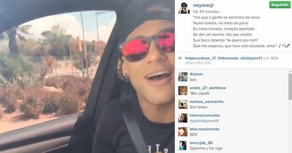 Neymar começa animado a sexta-feira e posta vídeo mandando ...