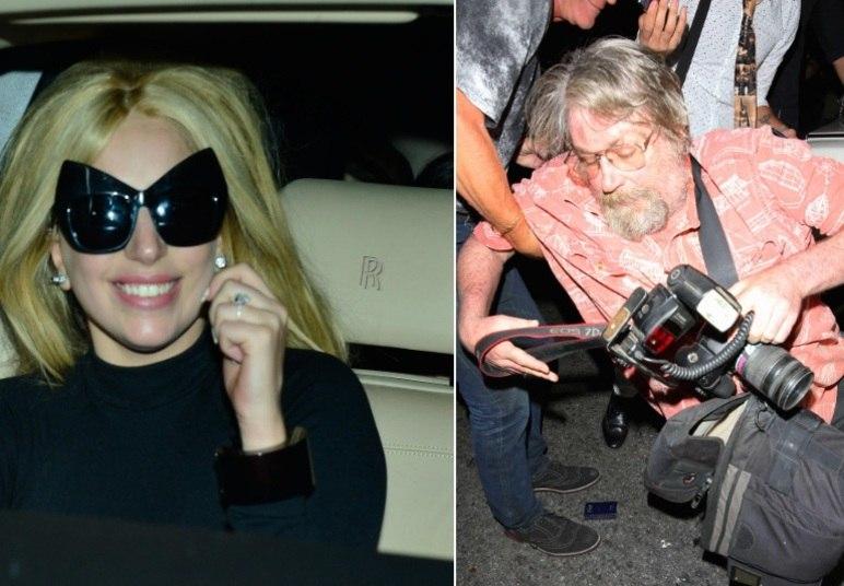 Depois de jantar com uma colega, tudo o que Lady Gaga queria era um pouco de paz. Entretanto, alguns paparazzi não deixaram que a saída da cantora do restaurante fosse tranquila