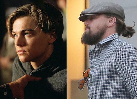 Leo DiCaprio aparece bem diferente dos tempos de <em>Titanic</em>