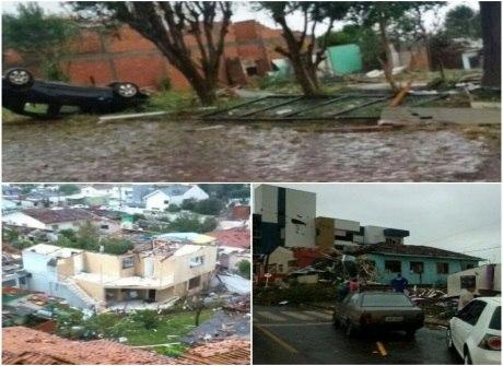 Após tornado, duas pessoas morrem e 10 mil são afetados