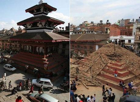 Veja como ficaram os monumentos do Nepal após terremotos