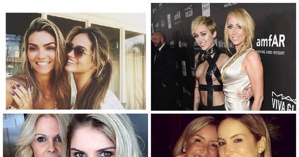 Que genética! Veja mães e filhas famosas muito parecidas fisicamente