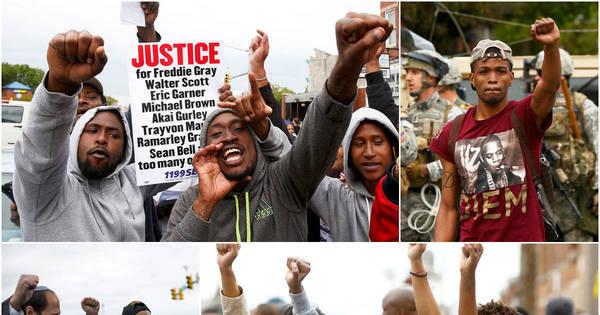 Moradores tomam as ruas de Baltimore para celebrar acusação de ...