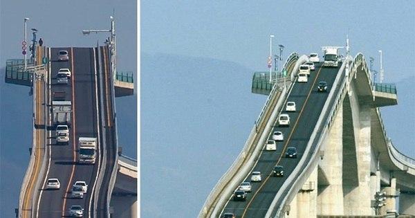 Montanha russa da vida real: conheça a enorme ponte Eshima ...