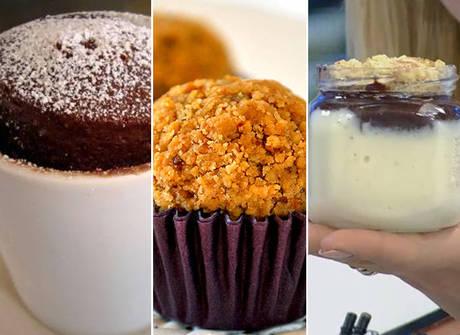 Prepare três doces práticos e deliciosos feitos no <em>Hoje em Dia</em>