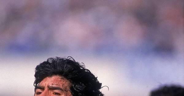 Maradona volta a elogiar Messi, mas diz que seus gols 'eram mais ...