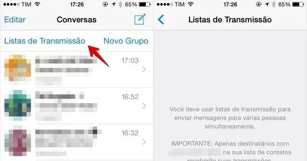WhatsApp permite envio de mensagens simultâneas para várias ...