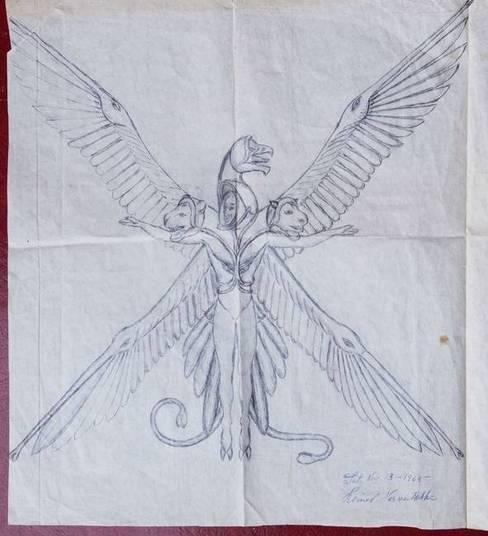 Tudo é meio estranho, alguns desenhos remetem aos deuses da mitologia... é uma espécie de mistura