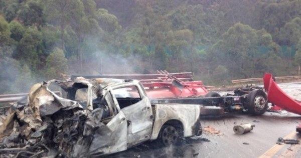 Cinco mortos em explosão na BR-040 eram da mesma família e iam ...