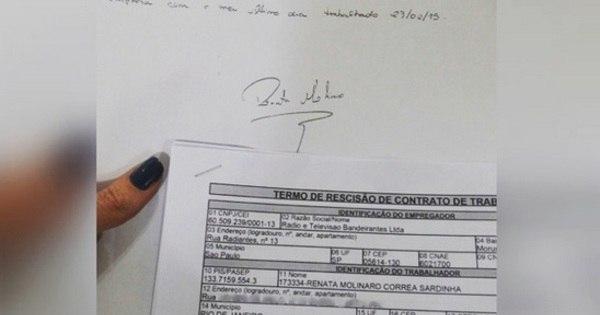 Ex- panicat Renata Molinaro publica termo de rescisão no Instagram ...