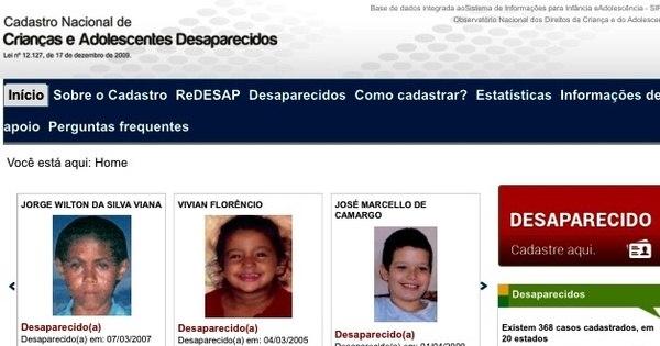 Com 40 mil crianças desaparecidas por ano, Brasil abandona ...