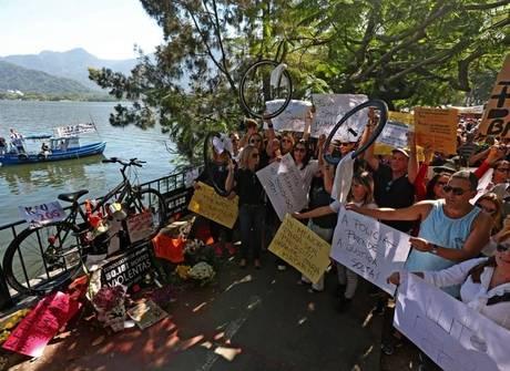 Após morte de ciclista, novo protesto pede mais segurança