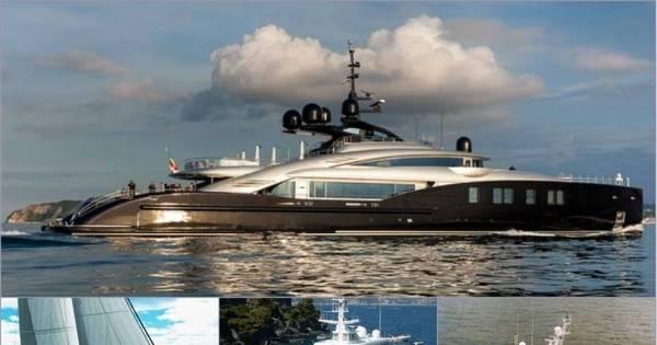 Com megaiates, ricaços que visitaram Cannes fazem barco de ...