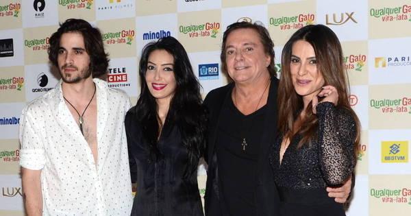Família de Fábio Jr. rouba a cena em pré-estreia do filme Qualquer ...