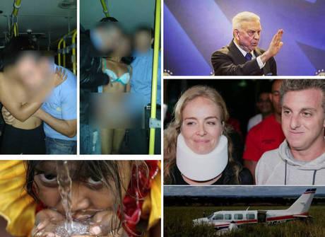 Acidente com Angélica e Huck e prisão de Marin foram destaques