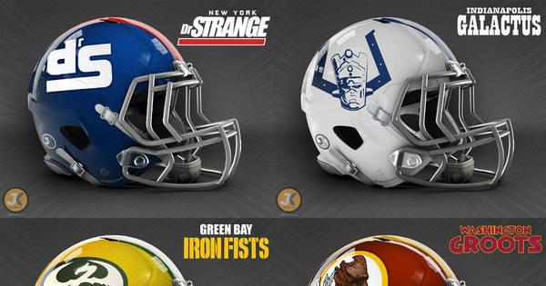 Designer esbanja talento e cria capacetes de futebol americano ...