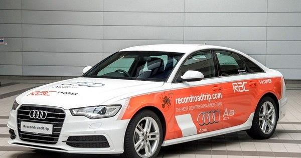 Audi A6 entra para o Guinness Book após passar por 14 países e ...