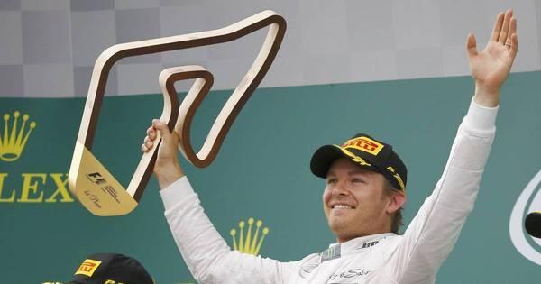 Nico Rosberg demonstra alívio e comemora vitória após erro em ...
