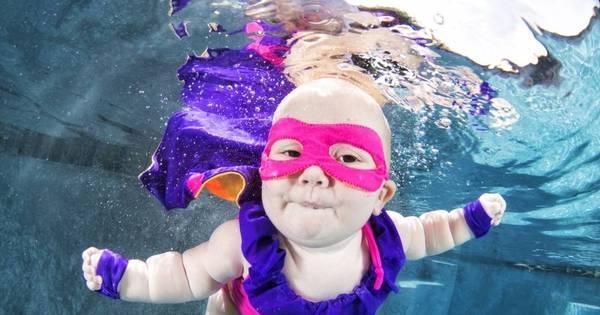 Bebês submarinos! Fotógrafo faz ensaio com os pequenos ...