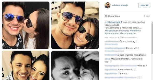 No Dia dos Namorados, Cristiano Araújo se declarou para Allana ...