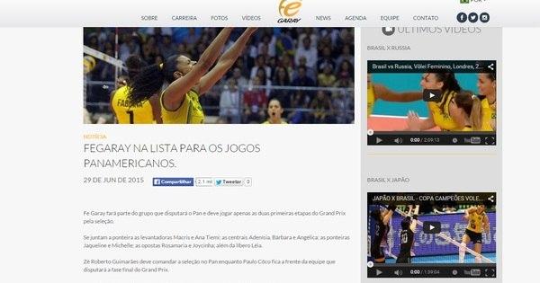 Site de jogadora vaza lista da seleção de vôlei para o Pan; confira ...