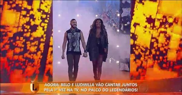 Ludmilla e Belo cantam Não Quero Mais no palco do Legendários ...