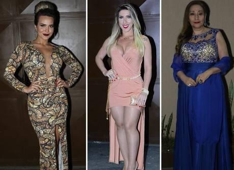Veja os vestidos das famosas no casamento de Neném<br />