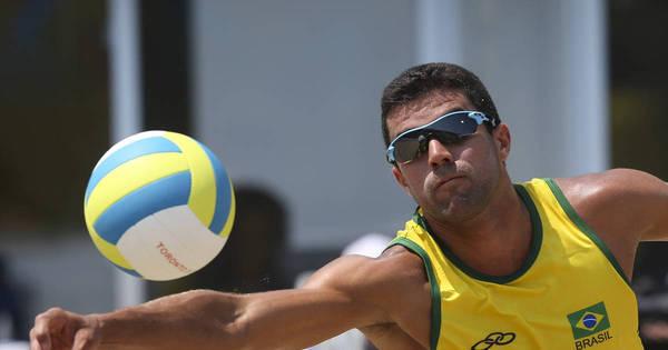 Brasil sofre, mas vence a segunda no vôlei de praia masculino dos ...
