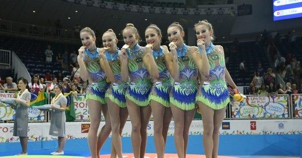 Meninas do Brasil levam ouro na ginástica rítmica - Rede record ...