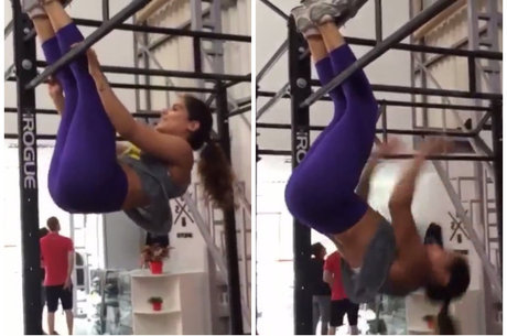 """Camilla Camargo pega pesado na academia e compartilha vídeo de abdominais: """"Crossfit na veia"""""""