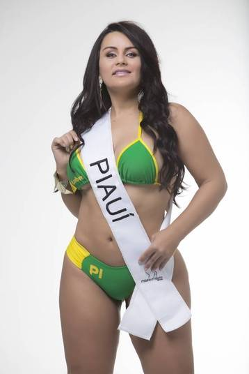 Claudia Pires, representante do Piauí, é outra candidata ao título de miss bumbum
