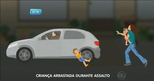 Menina de três anos é arrastada por carro durante assalto em ...