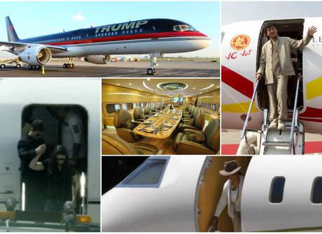 Explore os aviões particulares de Tom Cruise, Jay-Z e outros ricaços